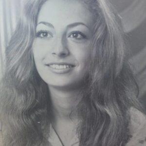 Monique Mufraggi jeune à 14 ans
